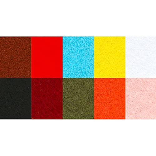 Graine Créative 10 Hojas de Fieltro de Color A4 - Espesor 2 mm