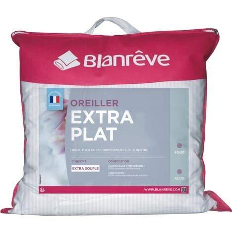 Blanreve Oreiller Souple Coton Extra Plat 45x70cm (Lot de 2)