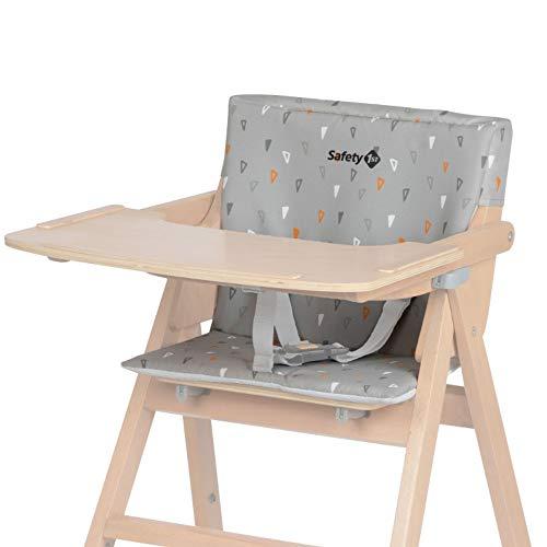Safty 1st cojín Trona Nordik, cojín para Nordik Trona madera plegable, Fácil de limpiar, color Warm Grey