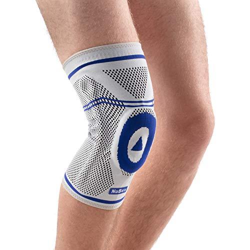 Nutrics | Aktiv Kniebandage | Damen und Herren | Patellapad + Spiralstangen | Linke und rechte Seite (M)