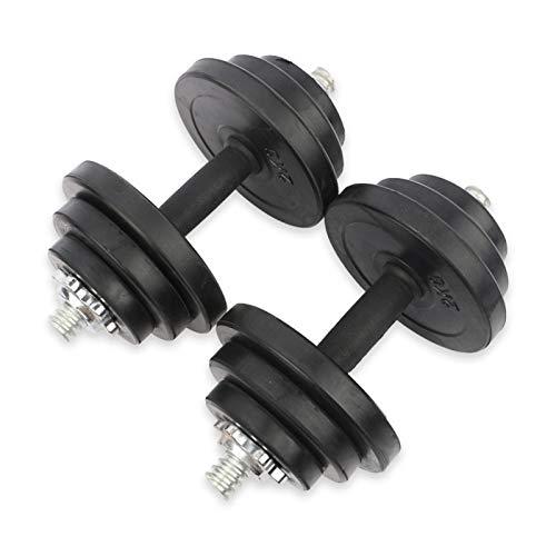 XUEXIU Juego De Pesas Multifuncional Ajustable De 10kg / 20kg / 30kg, Entrenamiento Ajustable Ejercicios De Fuerza De Mancuernas (Color : Black30KG)