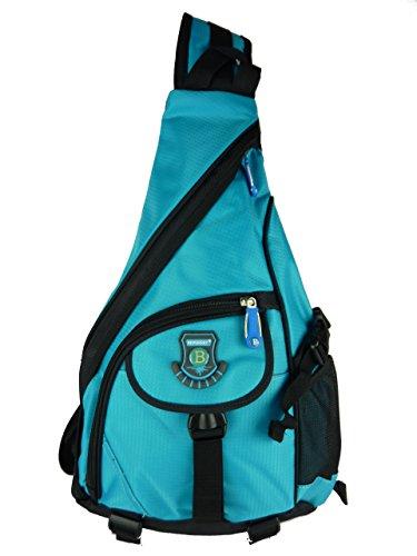 Sling bag Schulterrucksack daypack L15720 1 Träger Rucksack 40x30x15cm (blau hellblau)