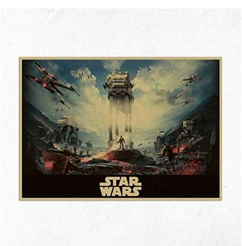 Poster Vintage Movie Star Wars Darth Vader Luke Jedi Posters Decoracion Painting Bar Wall Art Retro Kraft Paper Wall Stickers 40 × 60 sin marco