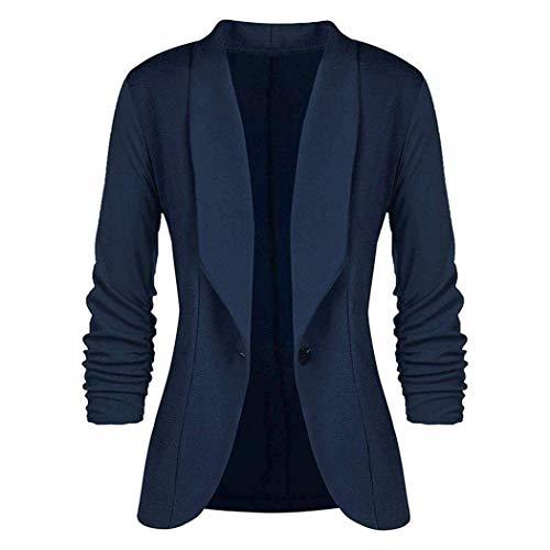 Adelina Dames Elegant Blazer Cardigan 3 4 mouwen Bolero jas Slim Fit Fashionable Completi pak trenchcoat getailleerd kort blazer jas bovenstuk
