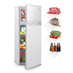 ♛【LOW NOISE & SILENCE】 Super quiet technology. This refrigerator is low noise design, lower than 40dB, provides a comfortable and quiet environment for sleeping, working, reading, etc. Quieter than other ordinary refrigerators in the market. The best...