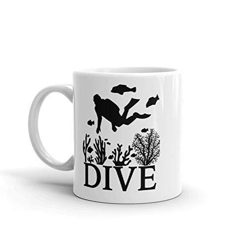 Scuba Diver Mug, Oceanographer, Marine biology, Scientist, Science Gifts, Graduation gift, Saturation, aquanaut, Coral Reef,