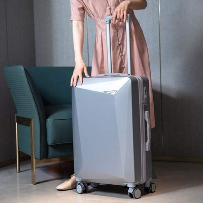 Mdsfe Handbags and Rolling Luggage Easy travel 18/20/24/26/28 inch sizePerfect capacity Boardable Suitcase - silver, 22'