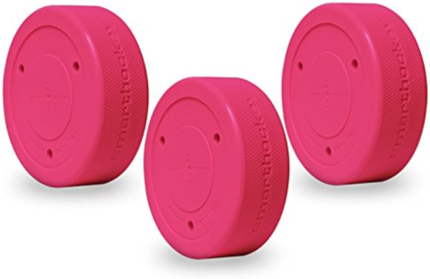 Smarthockey 6oz Original Stickhandling & Shooting Hockey Training Puck 3PACK PINK