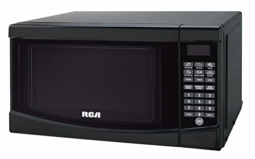 RCA RMW733 0.7 Cu. Ft. Microwave, White, Black