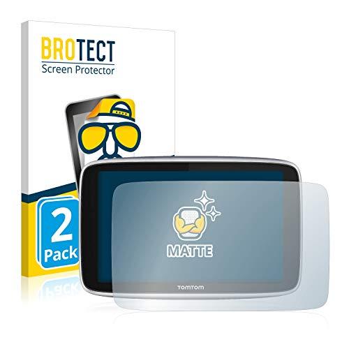 BROTECT 2X Entspiegelungs-Schutzfolie kompatibel mit Tomtom GO Premium X/Tomtom GO Premium (6'') Matt, Anti-Fingerprint