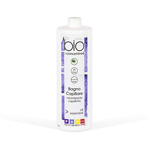 Pop Italy Bio Concentreè Shampoo Biologico Volumizzante per Capelli Fini SENZA SLS E PARABENI - 1000 ml