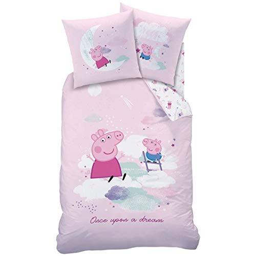 Peppa Pig Pig Pig Pig Dream Parure de lit en flanelle 135 x 200 cm + 80 x 80 cm