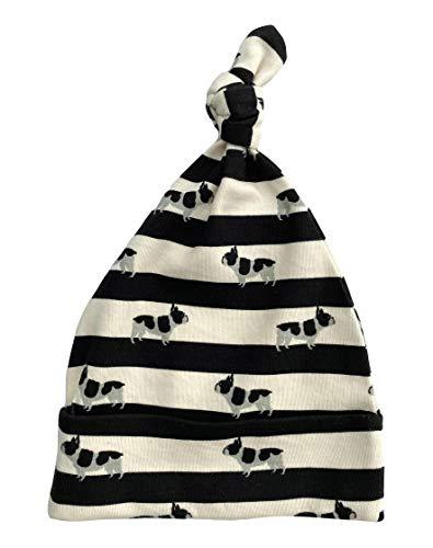 Cat & Dogma Organic Newborn Baby Beanie Hat (Frenchie, 0-3 Months)