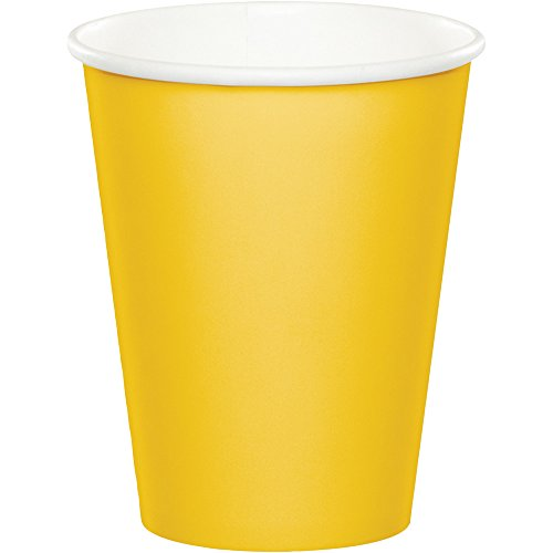 Creative Converting Celebrations 96-Count 9 oz. Hot/Cold Cups, School Bus Yellow -