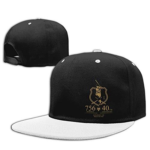 Jiso-Bag コントラスト ヒップホップ ベースボール キャップ 野球 東京ジャイアンツ White 帽子 野球帽 平つば 硬つば 長つば スナップボタン メンズ