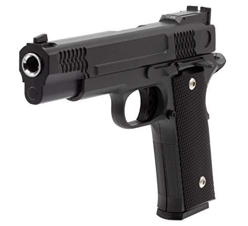 Softair Gun Airsoft Pistole + Munition | Cadofe G20-Black. Profi Vollmetall | 22cm. Inkl. Magazin & unter 0,5 Joule (ab 14 Jahre)