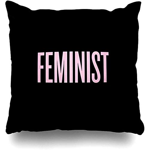 LOVE GIRL Fundas de cojín Ploekdu Hermosa Feminista Cuadrado al Aire Libre Tamaño 45x45 cm Fundas de Cojines Fundas de Almohada para el hogar