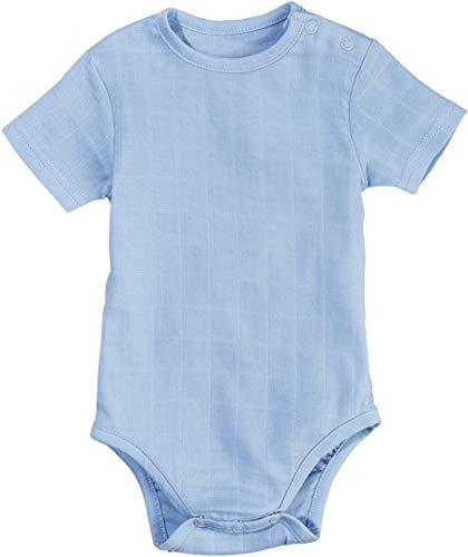 LUPILU PURE COLLECTION Baby Jungen Body, Kurzarm, Sommerbody Kurzarmbody aus Bio-Baumwolle (hellblau, Gr. 80)