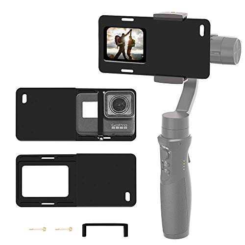 Hohem Action Kamera Adapter für Smartphone Gimbal - Mount Plate GoPro Adapter für GoPro Hero 7 6 5 4 3+, verwendet auf iPhone Gimbal, Hohem iSteady Mobile 2, DJI Osmo, Zhiyun Smooth 4 Q usw