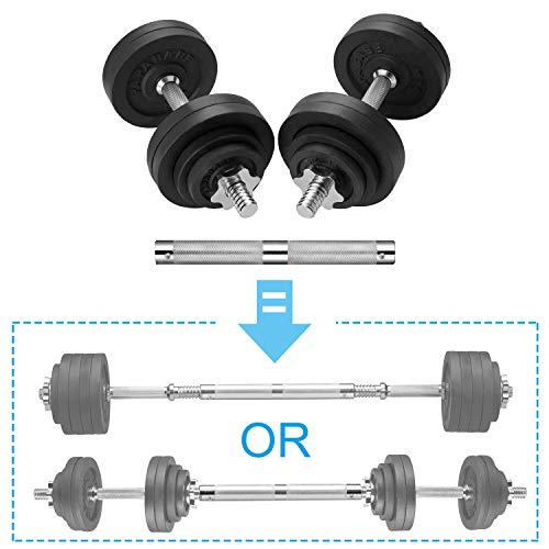 papababe Adjustable Dumbbells Cast Iron with Connector 40 50 65 105 200, Adjustable Dumbbell Sets, Lifting Dumbells. (32.5, Pair)
