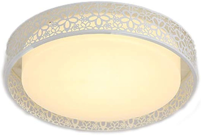 Led deckenleuchte runde schlafzimmer lampe einfache moderne wohnzimmer beleuchtung hause kreative balkon restaurant beleuchtung Deckenleuchten (Farbe   A (Weiß light)-B)