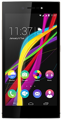 Wiko Highway Star Smartphone (12,7 cm (5 Zoll) Display, 16 GB Speicher, Android 4.4 KitKat) champagner