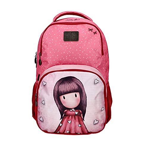 Santoro Gorjuss Schulrucksack/Backpack mit 15,6' Laptopfach Little Love, 46cm, 25L, 21GJS105A-LL 21GJS105A-LL-Zaino per la Scuola, con Scomparto per Laptop, 46 cm, 25 l, 46 x 32 x 16 Bambina