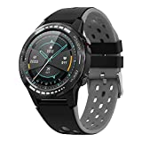 Bluetooth GPS Smart Watch for Men Women, 1.3' Full Touch Screen Smartwatch IP67 Waterproof Fitness Tracker Watch with Heart Rate/Sleep Monitor Pedometer Stopwatch with Message Notification