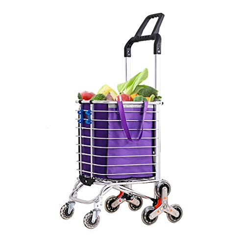 BAOYOUNI Folding Shopping Cart Stair Climbing Grocery Collapsible Utility...