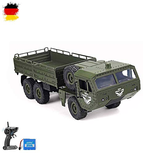 HSP Himoto 2.4GHz RC Ferngesteuerter 6WD Off-Road Militär Army Truck Crawler Fahrzeug Transporter, Komplett-Set RTF