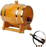 WSVULLD Dispensador de Licor Oak Barrel, Cubo de Almacenamiento de Whisky de Roble de 20L de 20L con Estante de Vino Whisky Cerveza Vino Agave Puerto (Color: Amarillo, Tamaño: 20L)