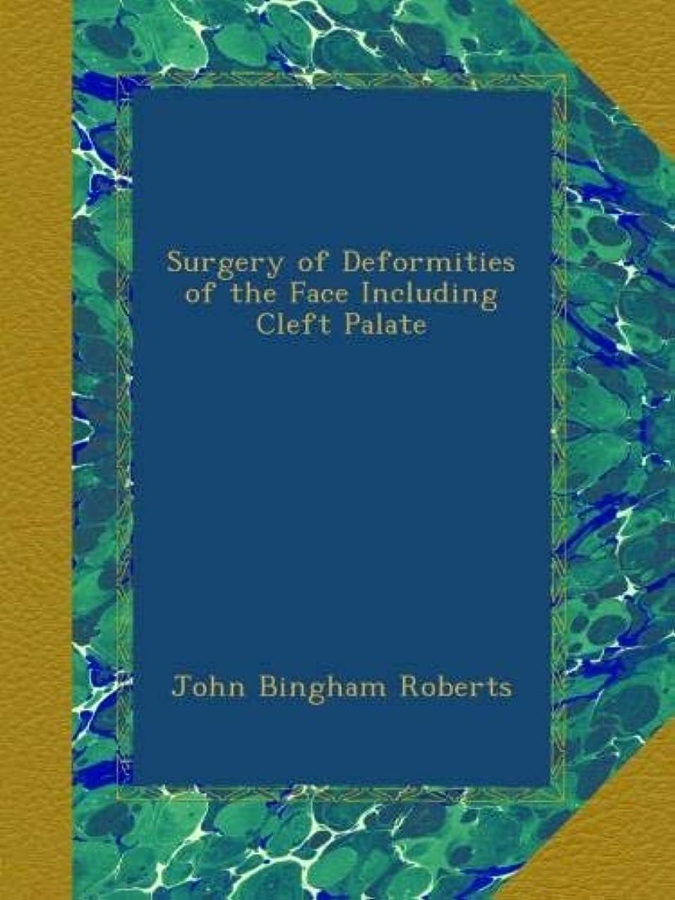 船酔いエレクトロニック不調和Surgery of Deformities of the Face Including Cleft Palate