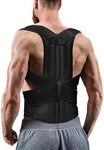 Cinta Colete Corretor de Postura Coluna Lombar Clavícula - corretor de costas ajustável e alívio da dor no pescoço, nas costas e no ombro e na clavícula (G)