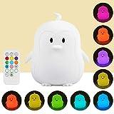 Luce notturna portatile a LED per bambini,in silicone, multicolore,lricaricabile tramite USB,regalo per la camera dei bambini
