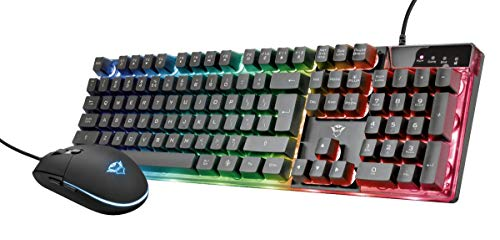 Trust Gaming GXT 838 Azor Gaming Toetsenbord en Muis Set (QWERTY Layout, LED Verlichting, 12 Multimediatoetsen, Anti Ghosting), Zwart