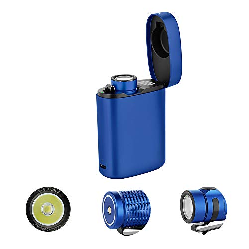 OLIGHT Baton3 Premium Edition 1200 Lumens EDC Flashlight Rechargeable, Handheld Light for Dog Walking, Hiking, Camping and Other Outdoor Activities (Blue)
