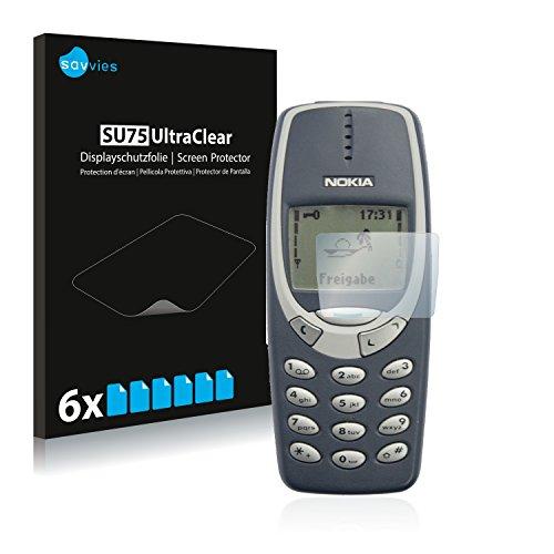 Savvies 6X Schutzfolie kompatibel mit Nokia 3310 2011 Bildschirmschutz-Folie Ultra-transparent