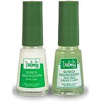 Valmy Química Endurecedor de Uña + Química con Ajo y Limón – Tratamiento de Esmalte Fortalecedor y Blanqueador, Pack de 2 (2 x 14 ml)