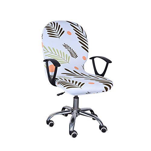 Ousicas Retractable Detachable Elastic Integrated Chair Covers,Office Swivel Siamese Chair Cover (A3)