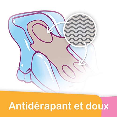 Tigex Transat de Bain bébé Évolutif Collexion, 0-6 Mois, 28 x 58 x 16,5 cm, Gris Perle