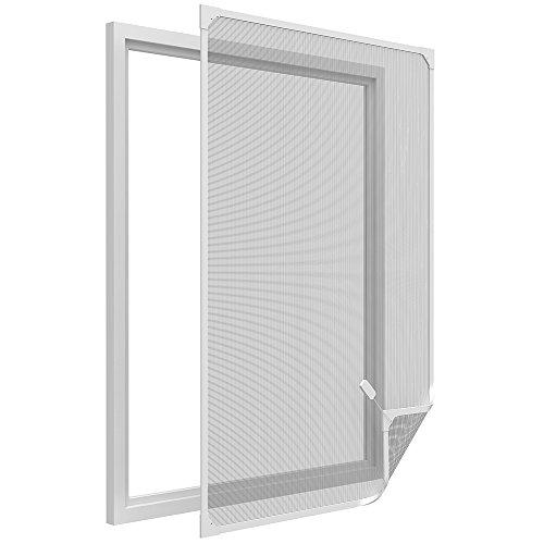 Easy Life Pollenschutz Gitter ALLERGICpro Basic mit PVC Magnetrahmen Pollenschutzgitter/Insektenschutz für Fenster ohne Bohren, Größe:100 x 120 cm