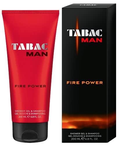 Tabac® Man Fire Power | Duschgel & Shampoo mit dem holzig-warmen Duft von Tabac Man Fire Power - reinigt mild - spürbares Frischegefühl | 200ml