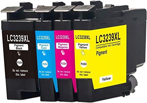 CMYK - Cartuchos de tinta XL para impresoras Brother (4 unidades, calidad de impresión como el original)
