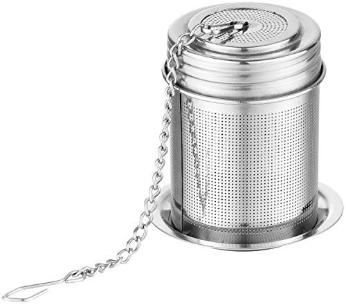 Tea Ball Infuser Filter amp Cooking InfuserExtra Fine Mesh Tea Infuser Threaded Connection 18/8 Stainless Steel with Extended Chain Hook to Brew Loose Leaf TeaSpices amp Seasonings by TEEMADE 1 PACK