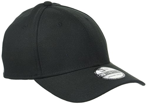 New Era Erwachsene Baseball Cap Mütze 39Thirty Stretch Back, Black, M/L, 11086491