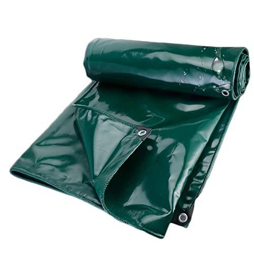 Fundas Muebles Jardin Impermeable Lona de PVC de Doble Cara de Tela Impermeable Camión Parasol Planta Anticongelante Cubiertas - 650G / M² (Color : Green, Size : 3x3m)