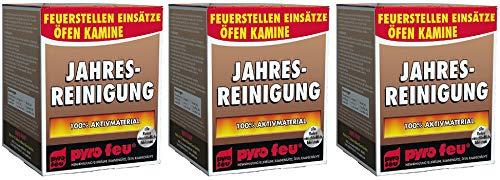 3X Jahresreinigung Entrußer für Ofen & Kamin alle Rohre einschließlich Edelstahl