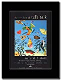 gasolinerainbows - Talk Talk - Natural History The Very Best Of - Matted Mounted Magazine Promotional Artwork on a Black Mount