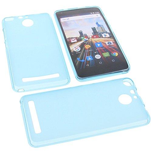 foto-kontor Tasche für Archos 50f Helium Gummi TPU Schutz Handytasche blau
