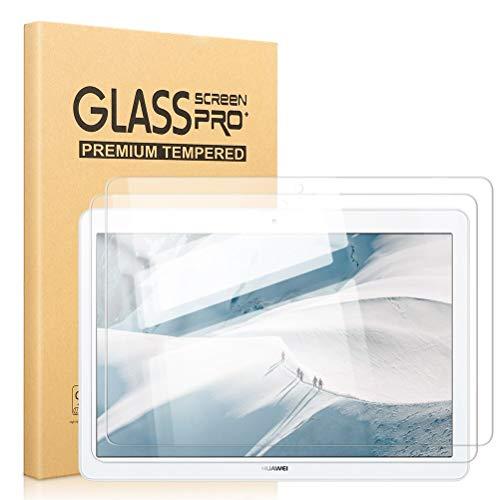 Pnakqil [2 Piezas] Protector de Pantalla para Huawei Mediapad T3 10 Protector de Cristal Vidrio Templado Premium Transparencia HD [Anti-arañazos] [No Burbujas] para Huawei Mediapad T3 10 Pulgadas